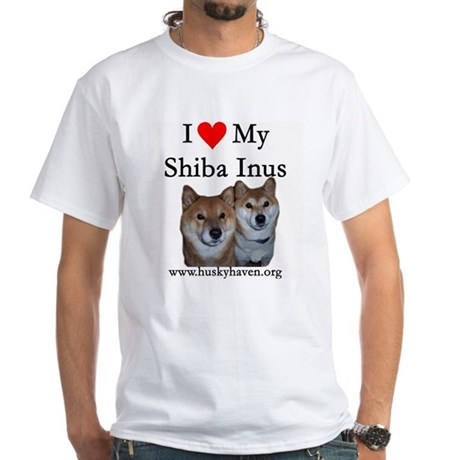 Shibas White T-Shirt