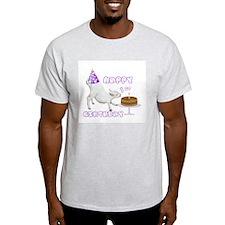 Happy 1st B-day goat Ash Grey T-Shirt