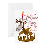 GoatCake Greeting Cards (Pk of 10)