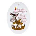 GoatCake Oval Ornament