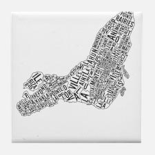 Montréal neighborhoods Tile Coaster