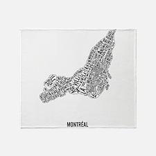 Montréal neighborhoods Throw Blanket