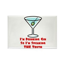 I'm Drinking Gin... Rectangle Magnet