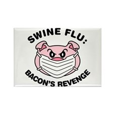Swine Flu Rectangle Magnet