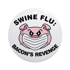 Swine Flu Ornament (Round)