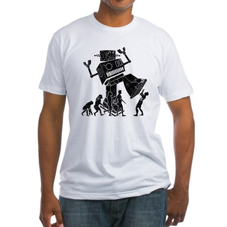Robot Apocalypse Fitted T-Shirt