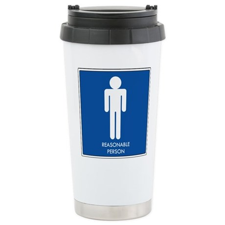 """Reasonable Person"" Stainless Steel Travel Mug"