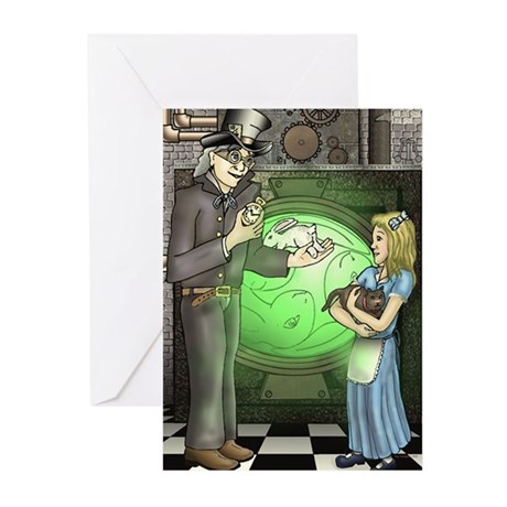 SteamPunk Alice Version 2 Ant Greeting Cards (Pk o