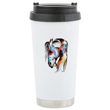 Painted Pony Ceramic Travel Mug