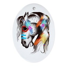 Painted Pony Oval Ornament