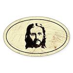 Jesus Oval Sticker