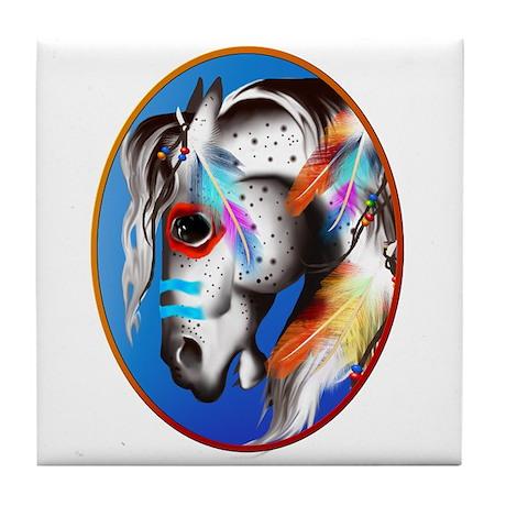 Painted Pony Framed Tile Coaster