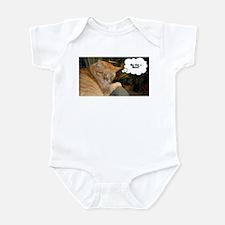 Orange Tabby Cat Humor Infant Bodysuit