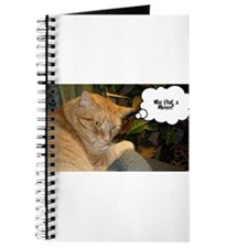 Orange Tabby Cat Humor Journal