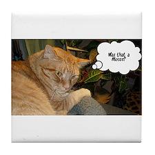 Orange Tabby Cat Humor Tile Coaster