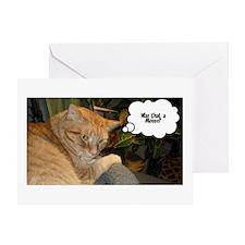 Orange Tabby Cat Humor Greeting Card