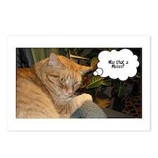 Orange Tabby Cat Humor Postcards (Package of 8)