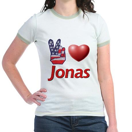 Peace, Love, Jonas Jr. Ringer T-Shirt