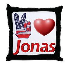 Peace, Love, Jonas Throw Pillow