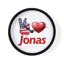 Peace, Love, Jonas Wall Clock