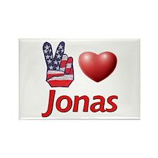 Peace, Love, Jonas Rectangle Magnet