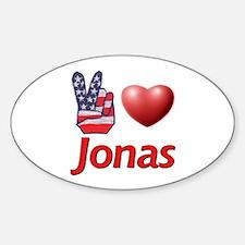 Peace, Love, Jonas Oval Decal