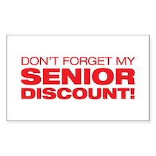 Senior Discount Rectangle Decal