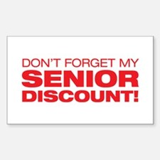Senior Discount Rectangle Decal