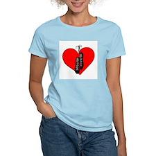 Highland Dance Ghillie Heart T-Shirt in Pink
