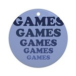 Games Ornament (Round)