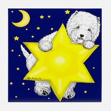 Westie Star Tile Coaster