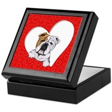 English Bulldog Lover Keepsake Box