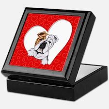 English Bulldog Lover Keepsake Box