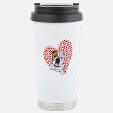 English Bulldog Lover Stainless Steel Travel Mug