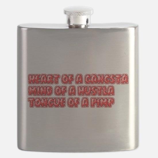 Heart Of A Gangsta Flask