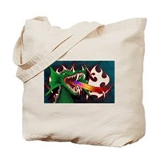 Funny Fire guy Tote Bag