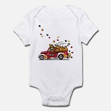 Cute Dog rescue truck Infant Bodysuit