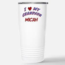 I Love My Grandson Micah Stainless Steel Travel Mu
