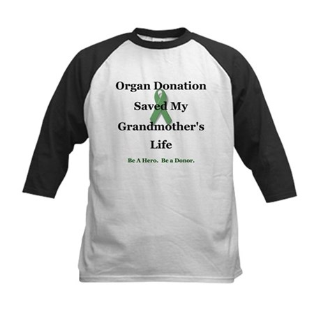 Grandmother Transplant Kids Baseball Jersey