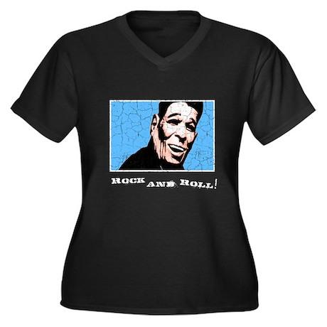 Ex-President Women's Plus Size V-Neck Dark T-Shirt