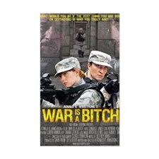War Is A Bitch Poster Rectangle Decal