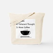 Coffee List More Coffee Tote Bag