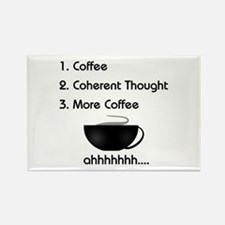 Coffee List More Coffee Rectangle Magnet