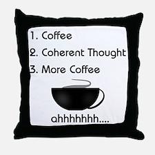 Coffee List More Coffee Throw Pillow