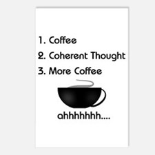 Coffee List More Coffee Postcards (Package of 8)