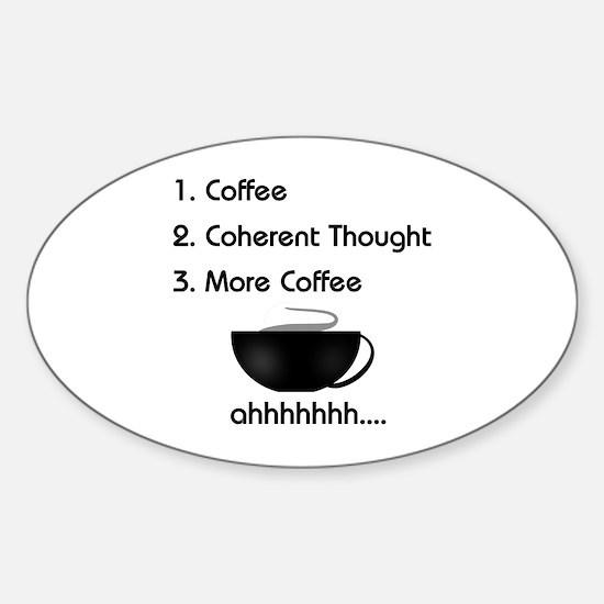 Coffee List More Coffee Oval Decal