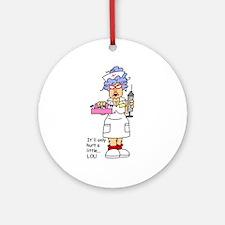 Nurse Hurt Ornament (Round)