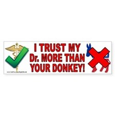 Dr.'s over donkeys (sticker)
