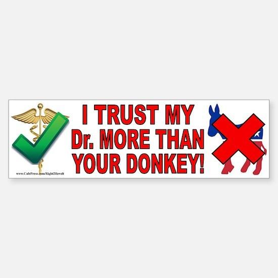 Dr.'s over donkeys (sticker)