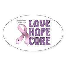 Alzheimer's Awareness Oval Sticker (10 pk)